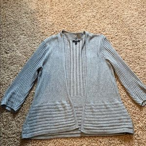 Grey 3/4 sleeve cardigan